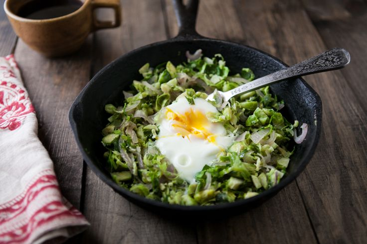 Brussels Sprouts And Egg Skillet Recipe — Dishmaps