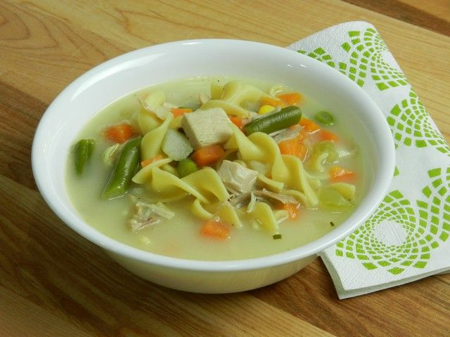 Homemade Turkey Noodle Soup, using stock | food & drink | Pinterest