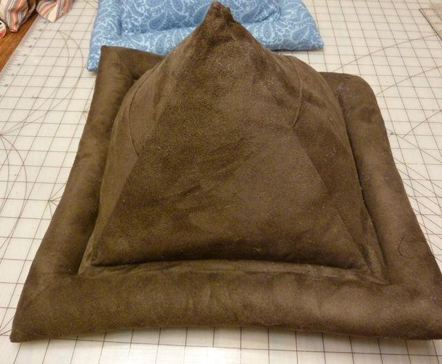 crocheted pyramid book pillow
