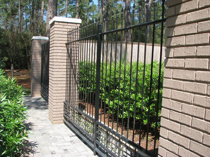 Wrought Iron Brick Privacy Iron Fence Pinterest