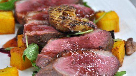 Tea smoked duck breast with baby beetroot - RTE Food