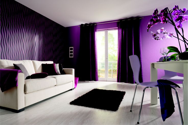 lila wohnzimmer farbe tapete orchidee obi obi farbwelten pinterest. Black Bedroom Furniture Sets. Home Design Ideas