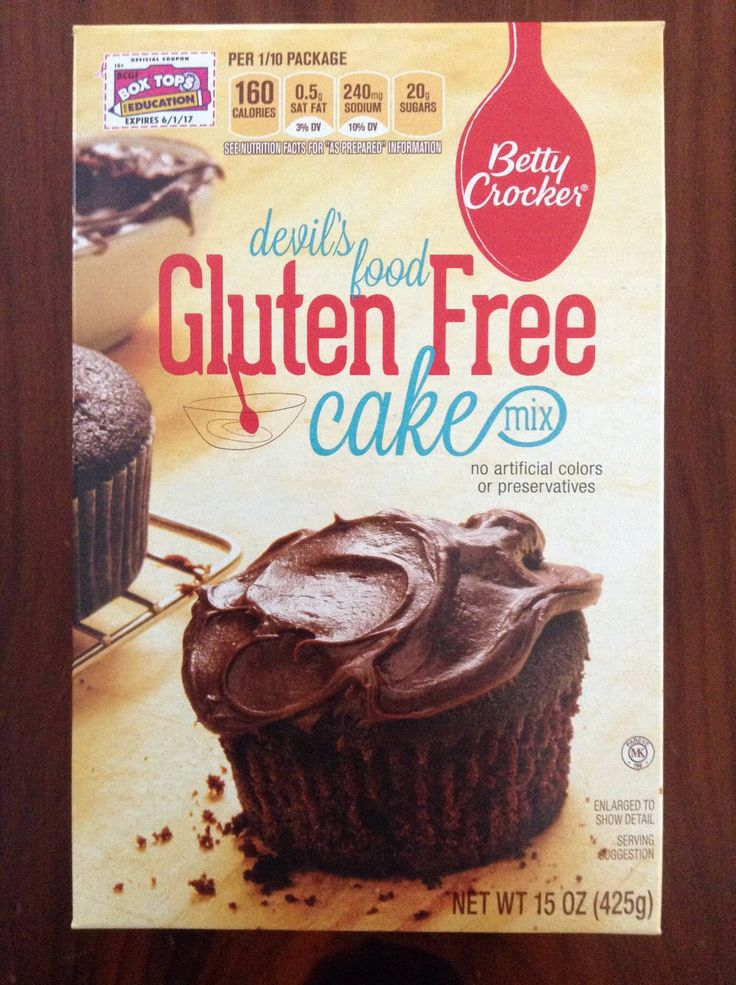 Betty Crocker Gluten Free Devil's Food Cake Mix -- I use it to make cupcakes