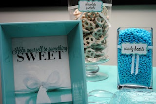 Tiffany & Co. Bridal Shower Candy Station