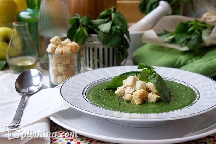 Суп из шпината свежего рецепты