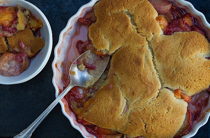 Roasted Peach Cobbler | recipes | Pinterest