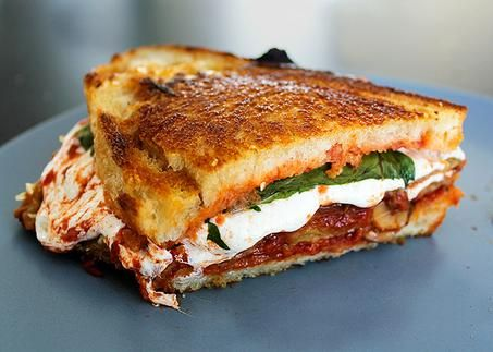 "Eggplant Parmesan"" Grilled Cheese 