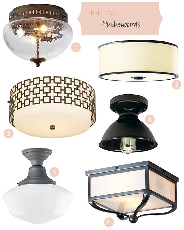 Flushmount Lighting Fixtures  #makingitlovely