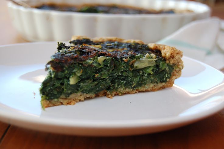 ... healthy living blog with tasty recipes: Swiss Chard And Spinach Quiche