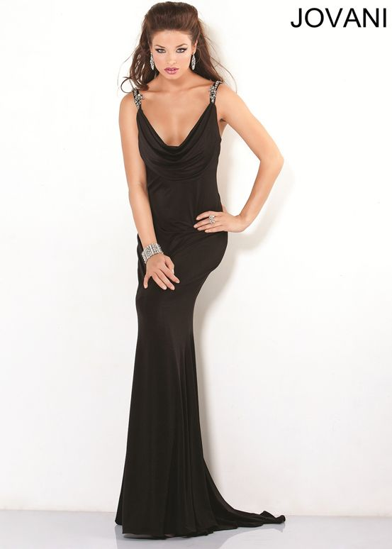 jovani 6403 black beaded evening gown dresses and
