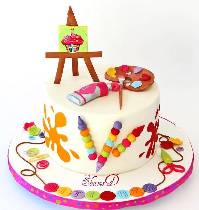 art themed cake Cakes!! Cakes!! Cakes!! Pinterest
