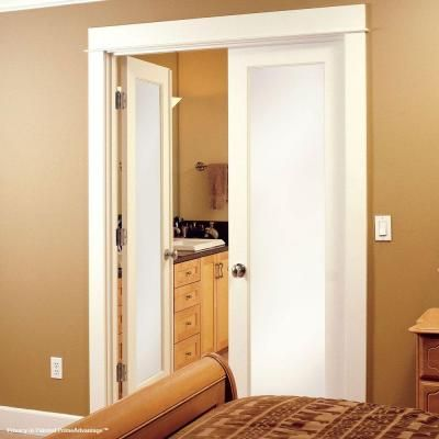 Feather river doors door privacy smooth 1 lite primed mdf interior d - Home depot feather river door ...