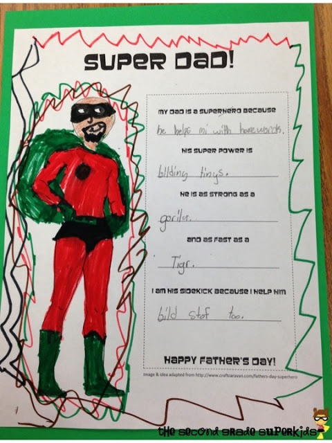 fathers day superhero sign