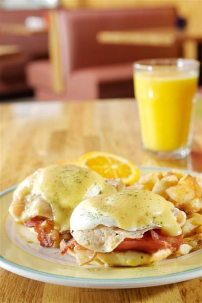 ... classic Eggs Benedict, but take out the canadian bacon and add turkey