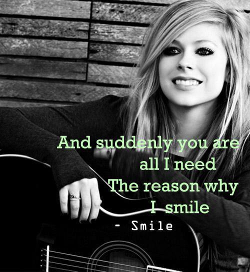 Avril Lavigne Smile Quotes. QuotesGram Avril Lavigne Lyrics
