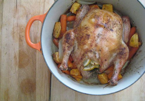 Roast chicken, carrots and sweet potato | Healthy Food : Mains ...