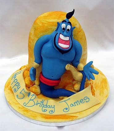 genie of the lamp birthday cake from sugarlicious ltd