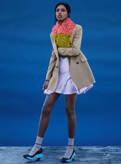 """Jasmine Tookes in """"Super Bold"""" by Thomas Whiteside for ELLE UK, September 2014."""