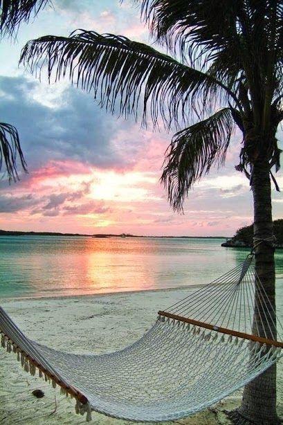 Hammock on the beach | Beach Scenes | Pinterest