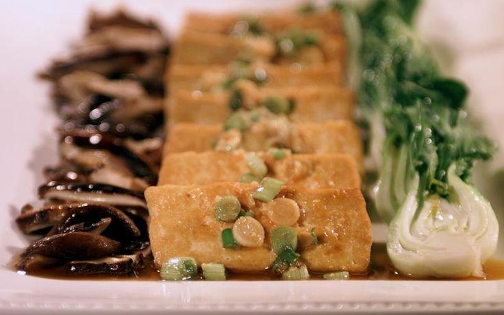 Tofu with shiitake mushrooms and baby bok choy | Recipe