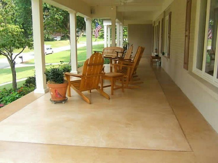 Decorative Concrete Stained Patio DIY Home Dec Pinterest