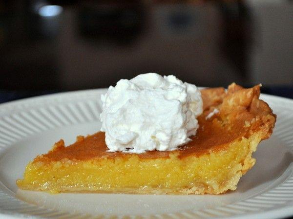 Meyer lemon chess pie from Serious Eats | Dessert | Pinterest