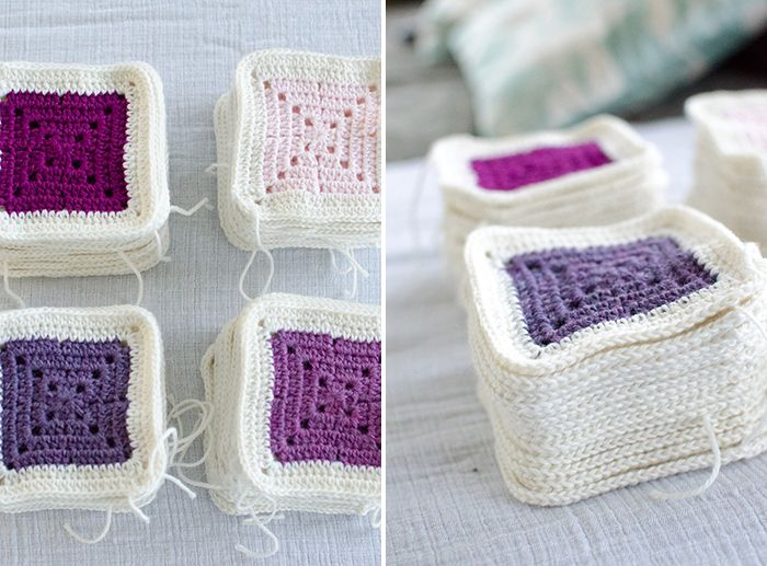 DIY Modern, Colorblock Granny Square Baby Blanket Pattern