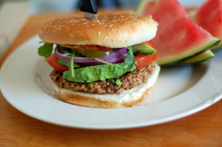 vegan rice and bean veggie burgers | VEGAN: burger, sandwiches, wrap ...