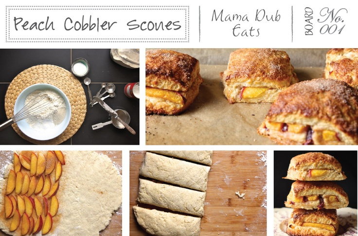 peach cobbler scones | recipes | Pinterest
