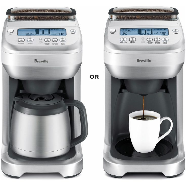 Coffee Maker With Thermal Carafe And Single Serve : Breville You Brew - Single and Carafe Serve Coffee Maker w/ Grinder