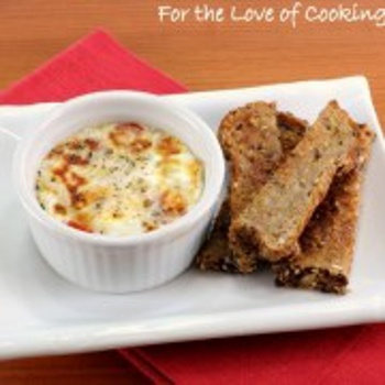 Parmesan & Tomato Baked Egg with Toast Soldiers Recipe - ZipList