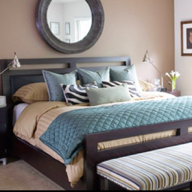 Brown And Teal Bedroom Color Scheme Teal Grey Brown Mom Pinterest |  Decorate My House
