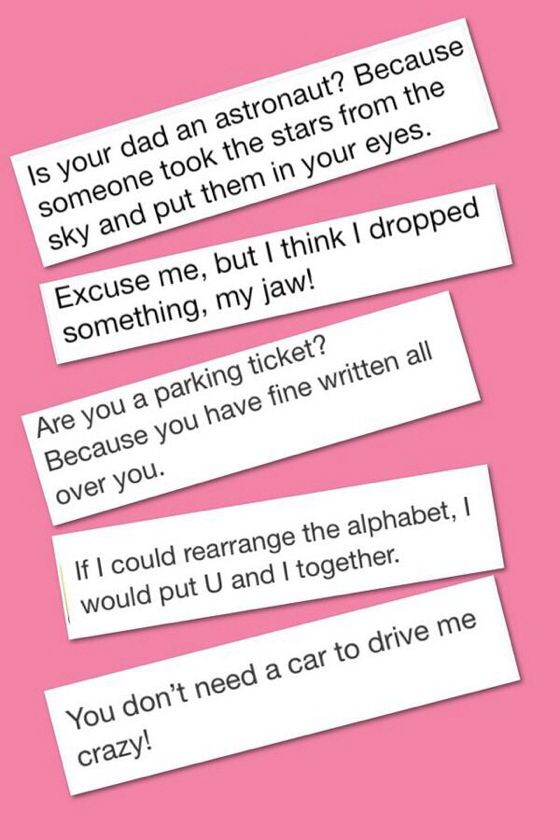 Online dating pick up lines