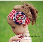 Beautiful! Sewing pattern for the Lillian Sash Headband by Violette Threads via Sew Mama Sew