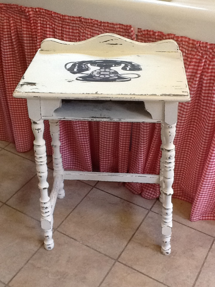 Chalk Paint Telephone Stand
