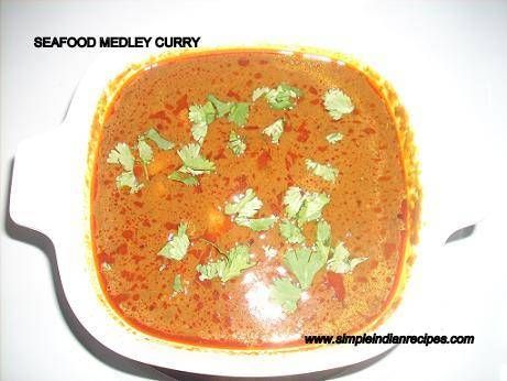 Seafood Medley Curry - Mixed Seafood Gravy