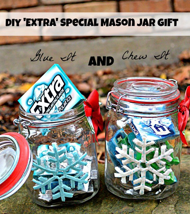 "Glue It AND Chew It: ""EXTRA"" Special Mason Jar Gift #GiveExtraGum #shop #Cbias"