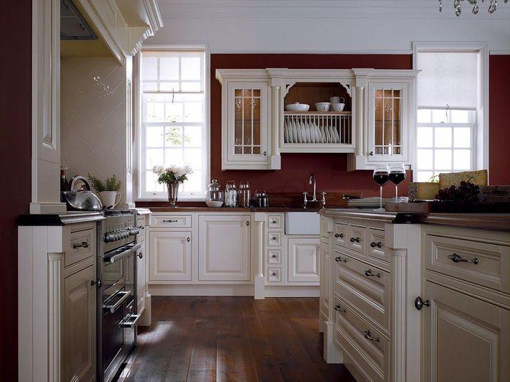 Burgundy kitchen kitchens pinterest for Burgundy kitchen cabinets