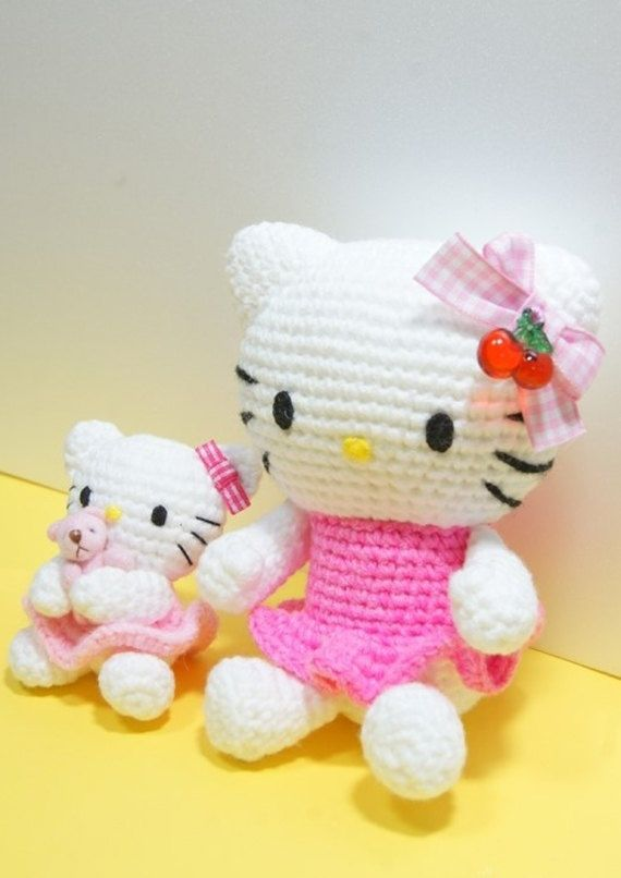 Hello Kitty Toy Knitting Pattern Free : Pin by Jenni Porter on Crochet Pinterest