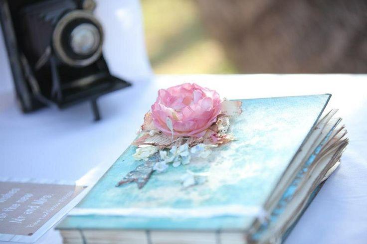 Handmade Guest book/scrapbook by Lotus Blu (etsy).: pinterest.com/pin/289145238548270784