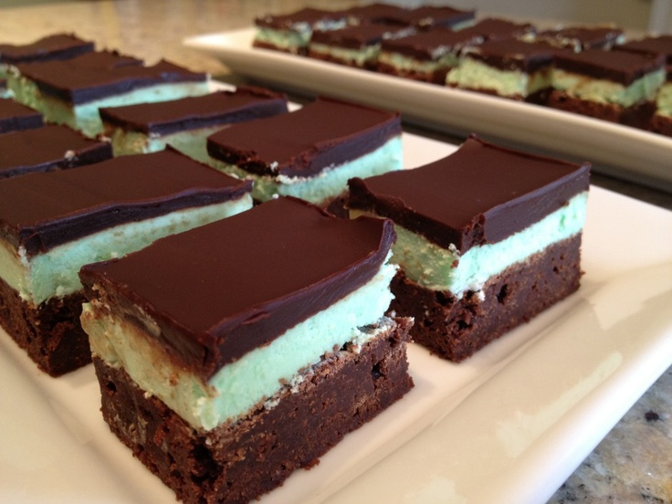Grasshopper Bars | Cookies | Pinterest