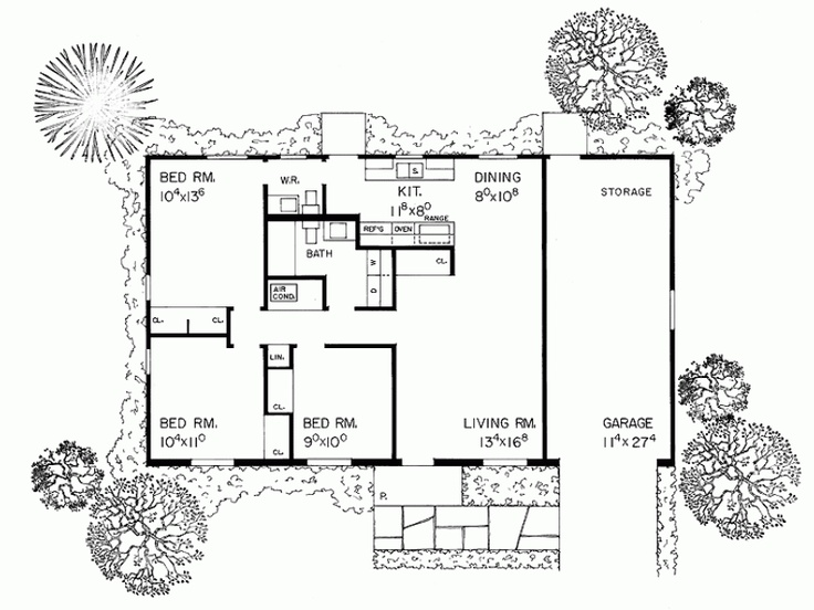 Floor plans for another small ranch bunk house pinterest Bunkhouse floor plans
