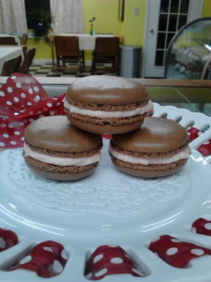 Cherry cordial macarons. | Mockingbird | Pinterest