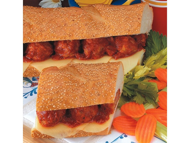 Giant Meatball Sub | Recipes I'd Like to Try | Pinterest