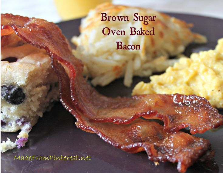 Breakfast Christmas Morning - Brown Sugar Baked Bacon