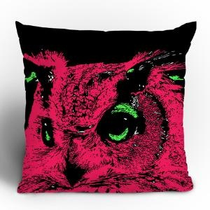 Romi Vega Pink Owl Throw Pillow