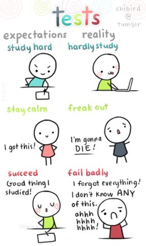 "You can reverse the ""expectations"" and ""reality"" half the time- I can fail badly even when I study hard!! #studyhard"