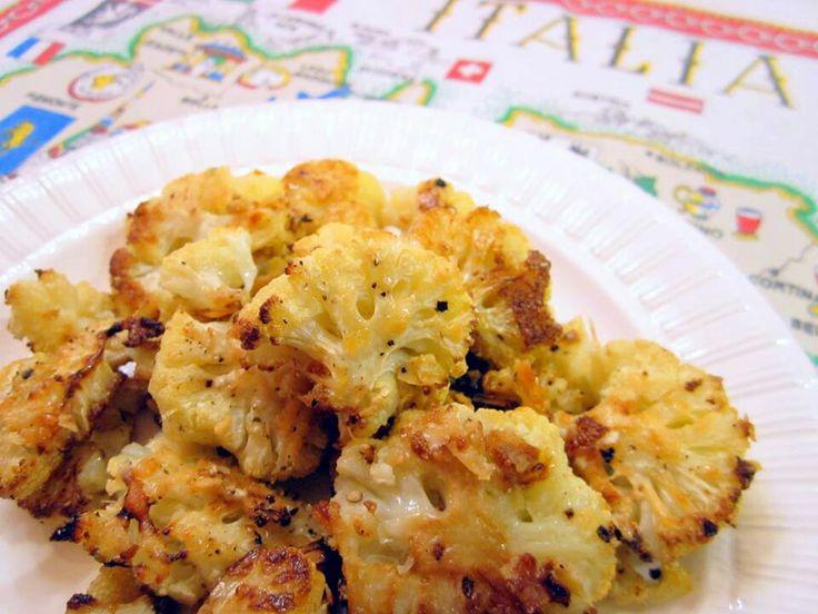 Roasted parmesan cauliflower | Food | Pinterest