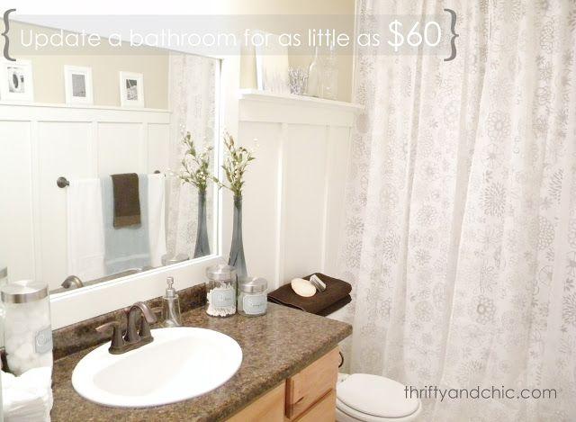 Cheap Bathroom Makeover Happy Home Pinterest