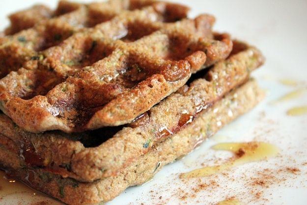 Zucchini Waffles | 10 Zucchini Recipes That Will Blow YourMind #foods ...